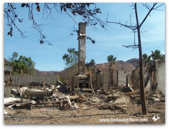Our home destroyed by the 2007 Witch Fire