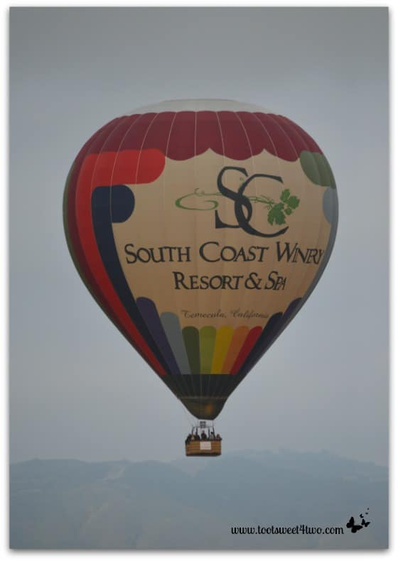 South Coast Winery Hot Air Balloon close-up