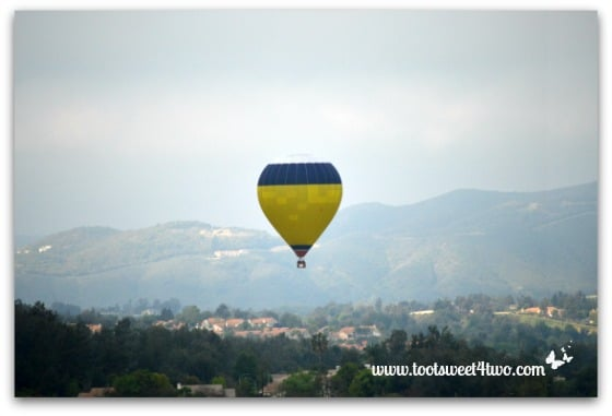 White Top Hot Air Balloon ascending