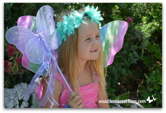 Fairy and her butterfly scepter