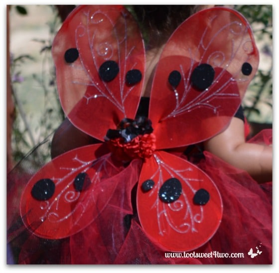 Red with Black Dots Fairy Wings