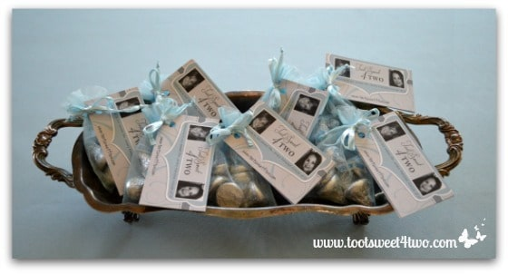 Easy Party Favors Featuring You - pretty party favors in old silver tray