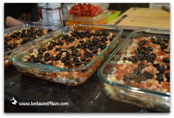 Add black olives - Charlie's Lite Layered Mexican Casserole