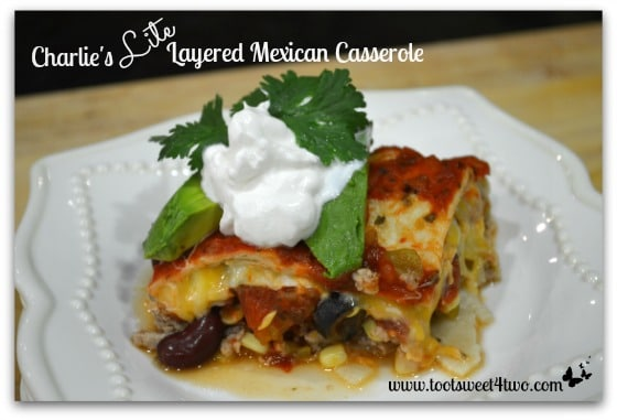 Charlie's Lite Layered Mexican Casserole cover
