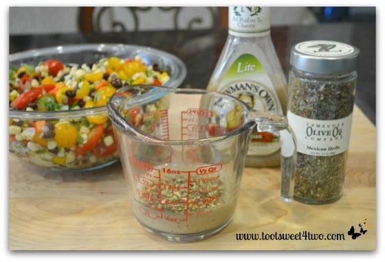 Make salad dressing for Mexican Corn Salad