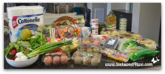 My haul of groceries from Grocery Outlet