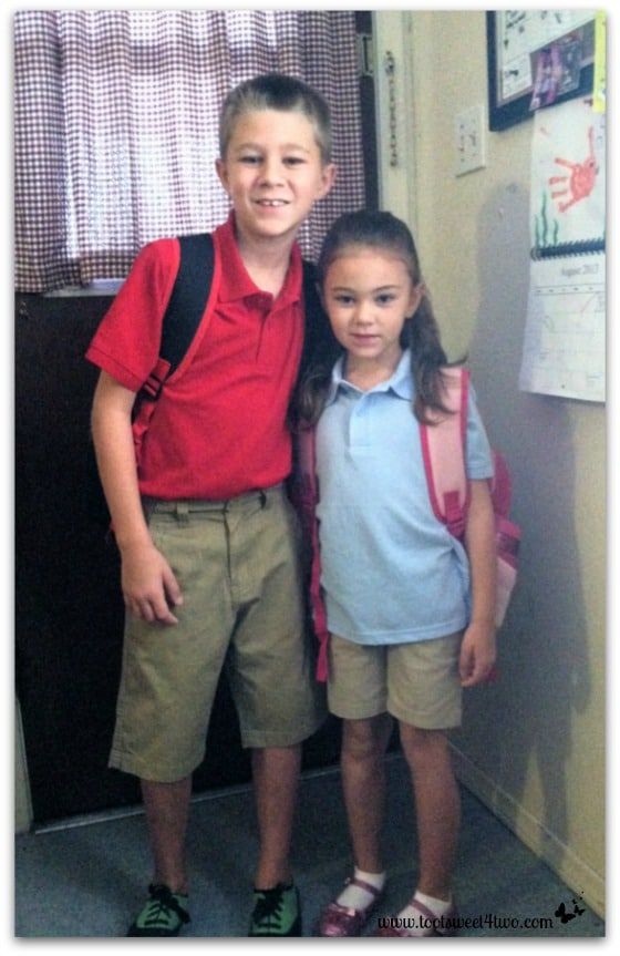 Prince Charming and Princess Sweet Heart on their first day of school
