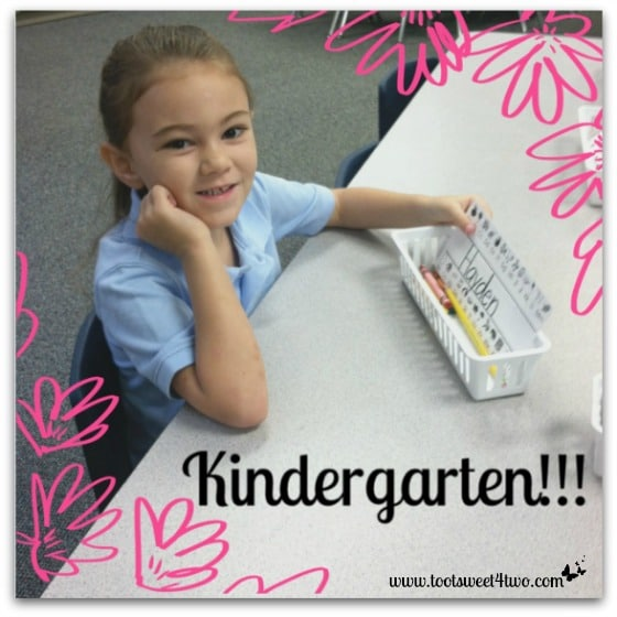 Princess Sweet Heart on her first day of Kindergarten