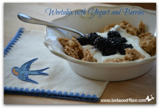 Weetabix with Yogurt and Berries