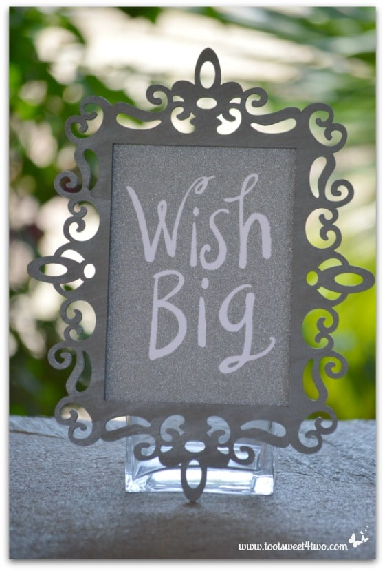 Wish Big card in laser frame