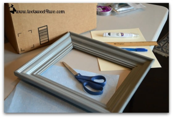 Work surface and supplies for old frames
