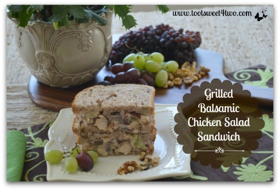 Food styling props for Grilled Balsamic Chicken Salad Sandwich