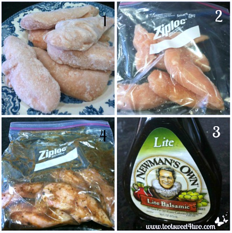 Marinate chicken for Grilled Balsamic Chicken Breast Tenders