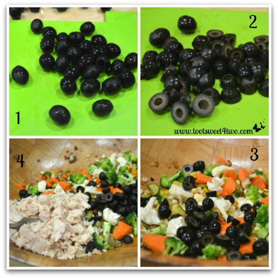 Olives and tuna for Garden Vegetable Tuna Casserole
