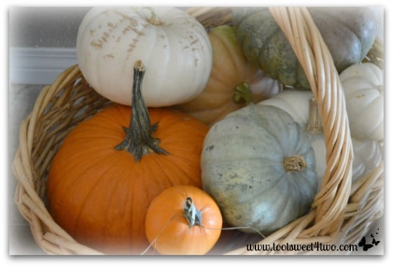 Basketful of pumpkins