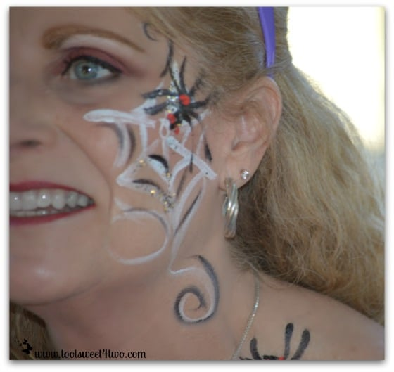 Gail's face painted