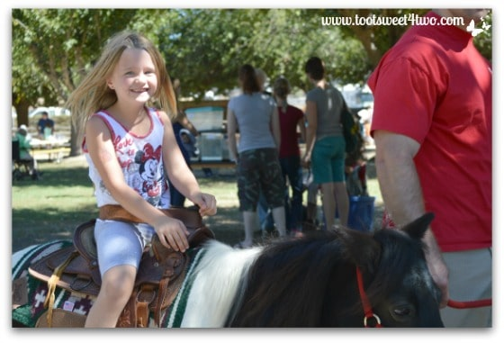 Princess P at the end of her pony ride