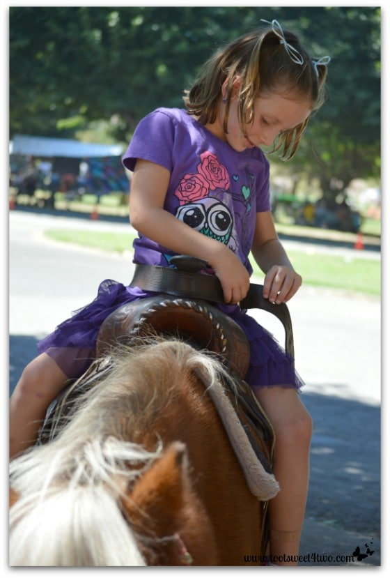 Princess Sweet Child on her pony
