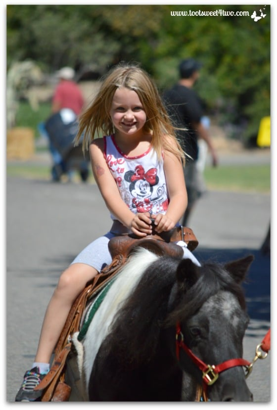 Princess Sweetie Pie all smiles on her pony