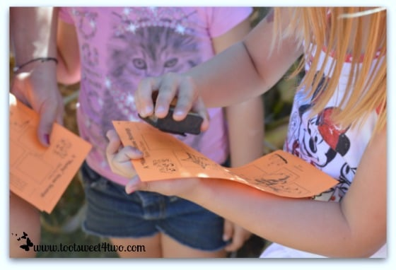 Stamping cards in the Straw Maze