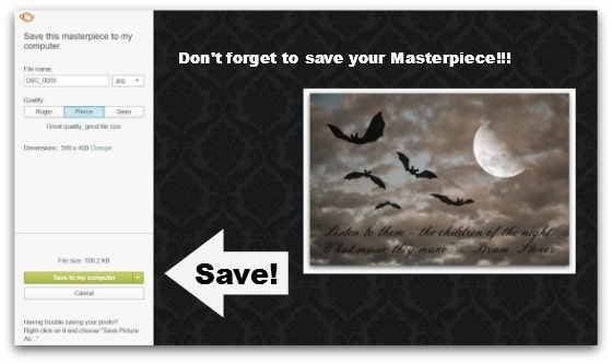 Step #20 - Save your masterpiece