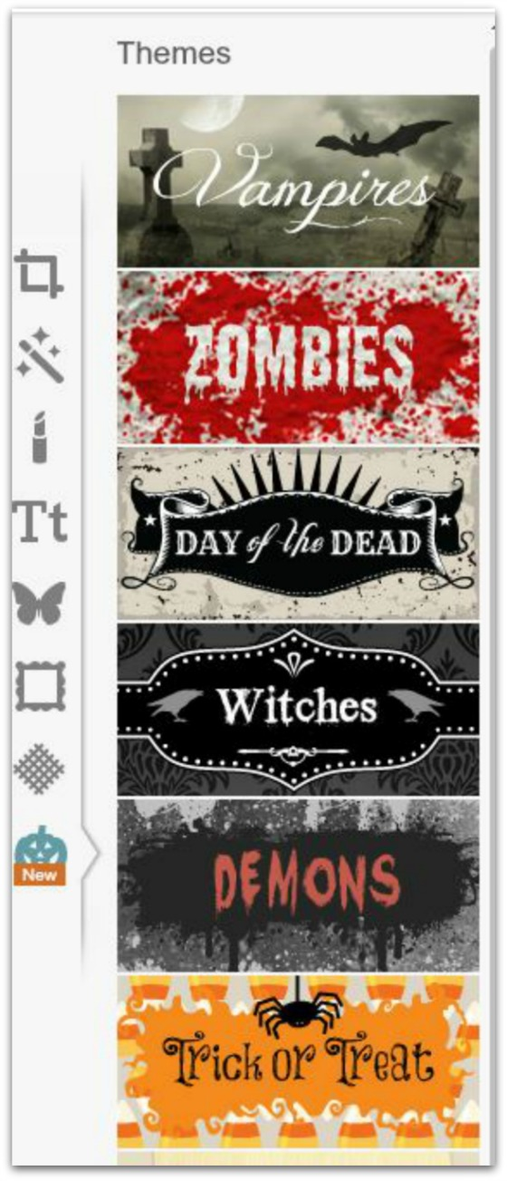 Step #5 - Click on New to see Halloween themes