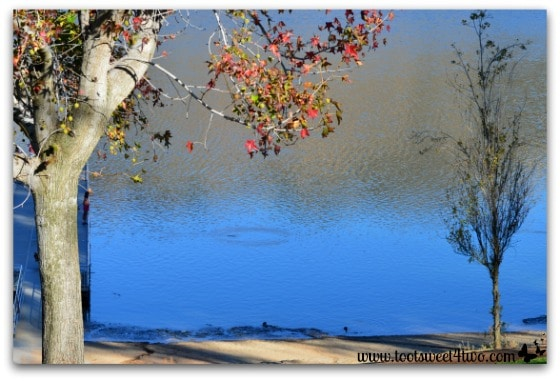 Late afternoon in the fall at Lake Poway