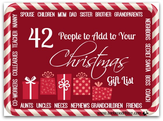42 People to Add to Your Christmas Gift List cover