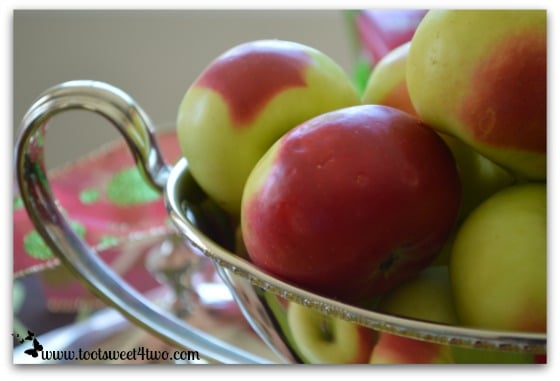 Christmas Apples in a gravy boat