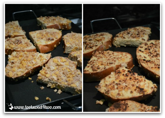 Cooking the French Toast on a griddle