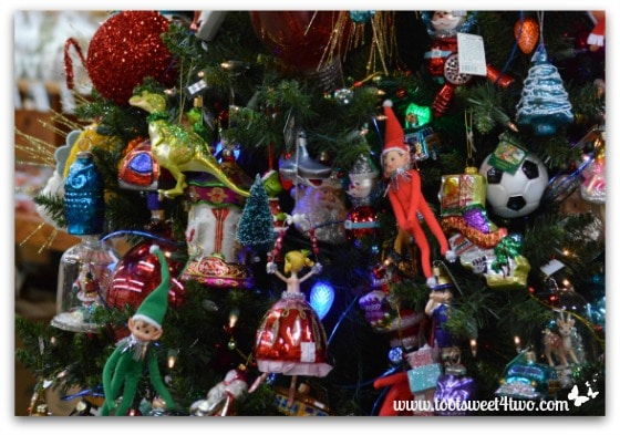 Elves in a Christmas tree