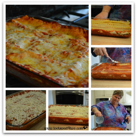 Final layers of Kathy's 16-Layer Lasagna