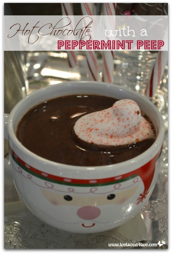 Hot Chocolate with a Peppermint Peep