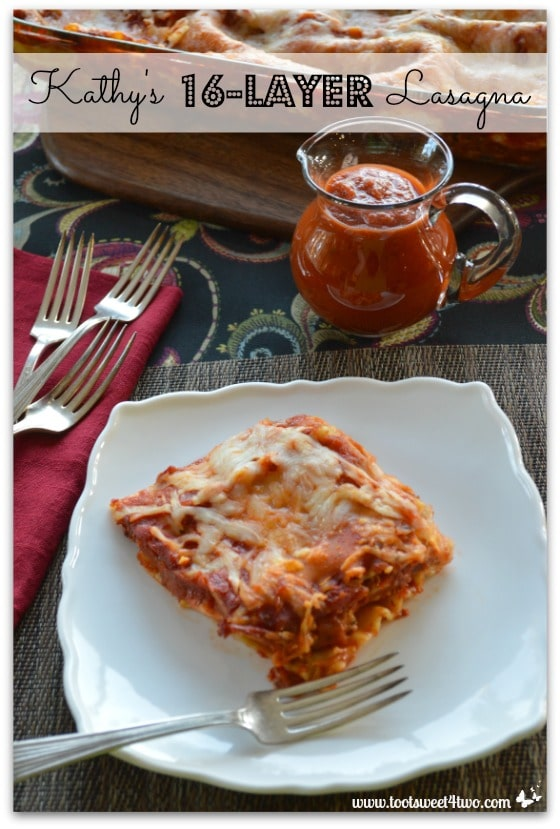Kathy's 16-Layer Lasagna Pinterest