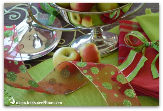Lady Apples and Christmas decorations