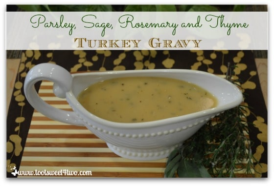 Parsley Sage Rosemary and Thyme Turkey Gravy cover