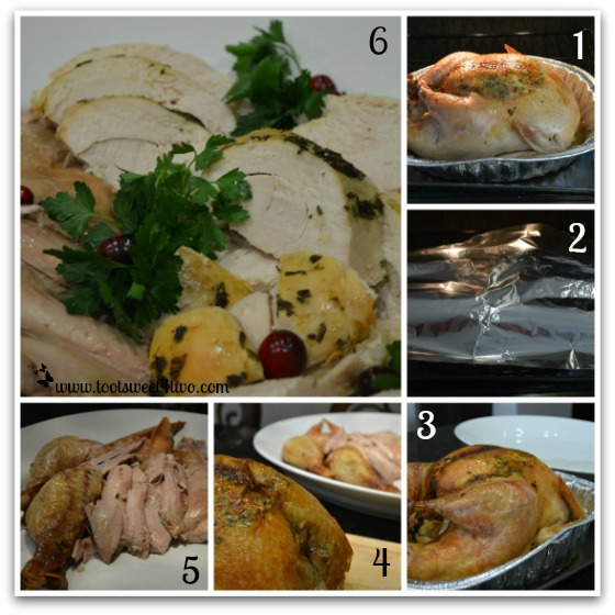 Roasting, resting and slicing Parsley, Sage, Rosemary and Thyme Roasted Turkey