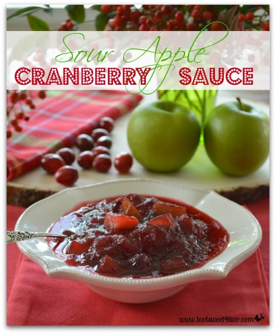 Sour Apple Cranberry Sauce Pinterest