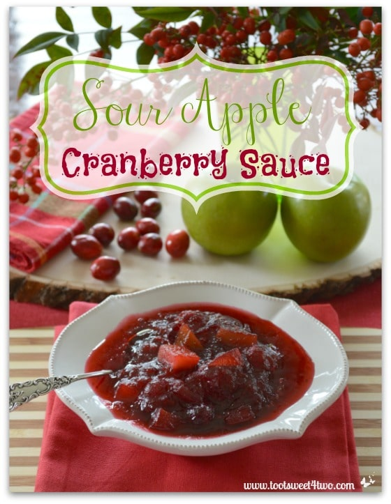 Sour Apple Cranberry Sauce for Pinterest