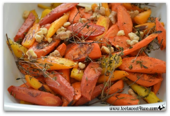 Thyme Roasted Carrots close-up