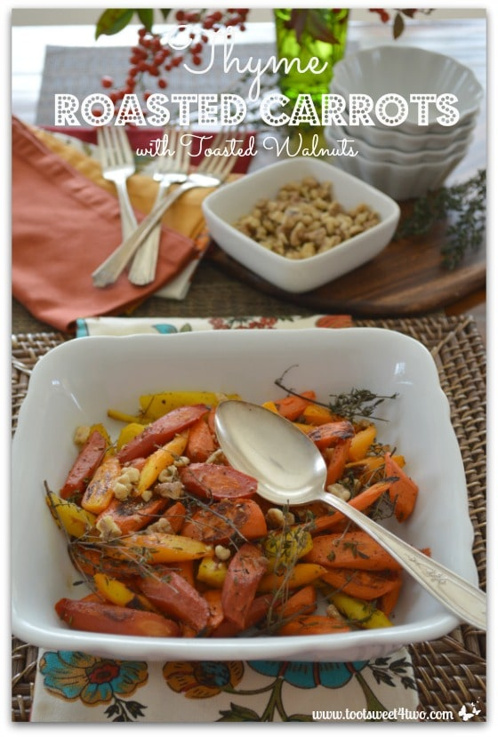 Thyme Roasted Carrots with Toasted Walnuts Pinterest