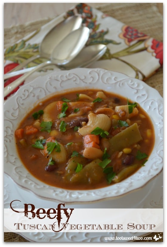 Beefy Tuscan Vegetable Soup Pinterest