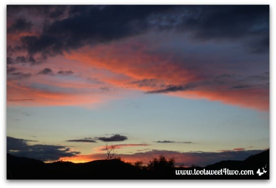 Sunset in our valley - November 22, 2013