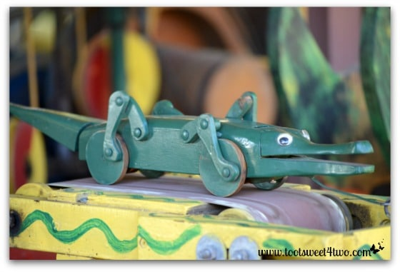 Alligator toy on the Funny Farm - 42 Shades of Green