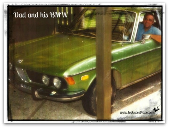 Dad with his BMW - 42 Shades of Green