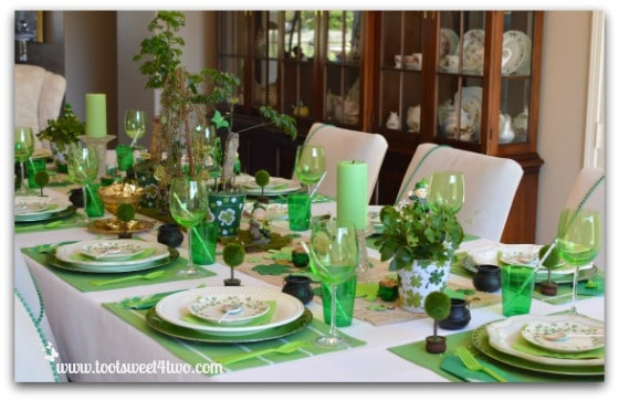 Decorating The Table For A St Patricks Day Celebration