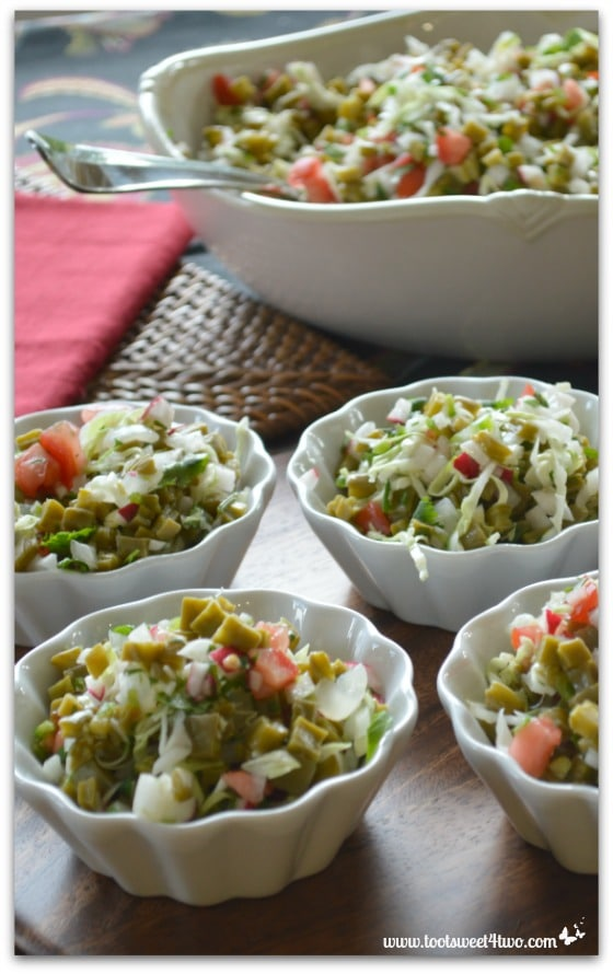 Ensalada de Nopales Cactus Salad - 42 Shades of Green