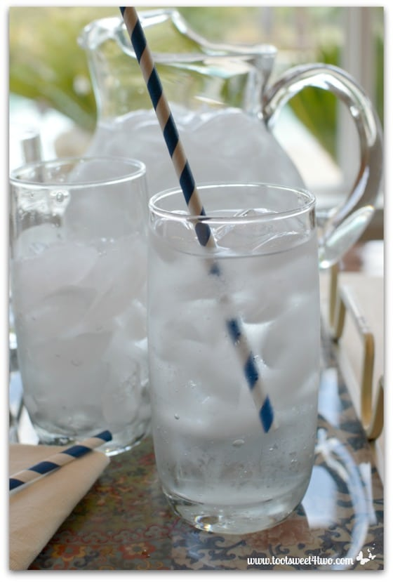 Glass of ice cold water