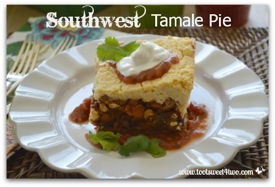 Southwest Tamale Pie close-up on plate
