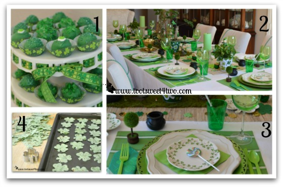 St. Patrick's Day food and table decorations